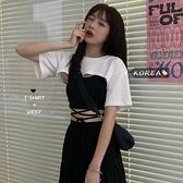 夏季新款2020年設計感純色短款罩衫短袖T恤女百搭圓領時尚上衣潮 【ifashion·全店免運】