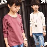 男童長袖t恤春裝2018新款童裝男孩純棉春秋款上衣中大兒童體恤衫 森活雜貨