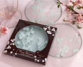 梅花玻璃杯墊 婚禮小物 送客禮 伴郎伴娘禮 賓客抽獎禮 玻璃杯墊【皇家結婚百貨】
