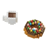《Nano Block迷你積木》【 美味料理系列 】NBC-246 甜甜圈&咖啡 / JOYBUS玩具百貨