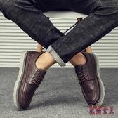 男士休閒鞋韓版潮流百搭鞋子男潮鞋2019新款復古英倫皮鞋秋季男鞋CM513【花貓女王】