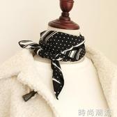 絲巾chic小方巾女百搭韓國裝飾文藝小領巾ins復古小圍巾 時尚潮流