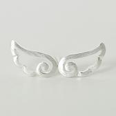 925純銀耳環(耳針式)-可愛天使翅膀生日情人節禮物女飾品73dr109【時尚巴黎】