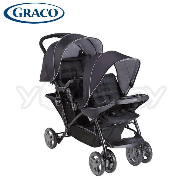 GRACO Stadium Duo 雙人前後座嬰幼兒手推車 城市雙人行-探險黑