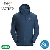 【ARC TERYX 始祖鳥 男 Atom SL 化纖外套《拉冬藍》】26889/防潑水/防風/可壓縮/連帽外套