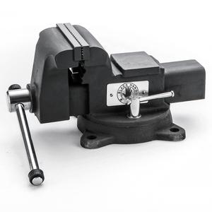 黑手牌 鑄鋼橫萬力桌上型虎鉗 4 旋轉式底座 十年保固