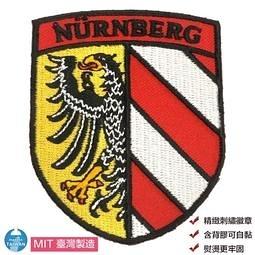 Nuremberg 紐倫堡徽章 DIY 服飾 熨燙補丁 布藝立體繡貼 熨斗立體繡貼 Flag Patch貼布繡1入