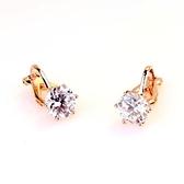 耳環 925純銀鑲鑽-簡約氣質生日情人節禮物女耳針2色73gt79【時尚巴黎】
