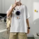 短袖男t恤夏季時尚百搭潮流帥氣上衣服寬松舒適印花半袖體恤