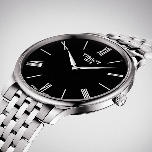TISSOT天梭T-TRADITION超薄紳士石英錶  T0634091105800