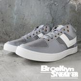 PONY Atop 灰白 皮革 網布 金屬鞋孔 滑板鞋 女 (布魯克林) 2018/10月 83W1AT01GR