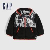 Gap嬰兒 Gap x Disney 迪士尼系列拼接設計連帽外套 595623-黑色