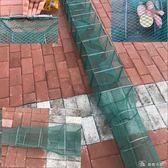 魚網養殖捕魚籠螃蟹漁網 黃鱔蝦籠泥鰍籠全自動垂釣折疊籠手拋網  YXS那娜小屋