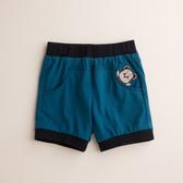 【金安德森】熊熊繡花超短褲-藍綠