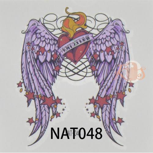 «NiWeiTa» mini Tattoo 防水彩色紋身貼紙 刺青貼紙 Angel款 6x6CM (暑假出清價)