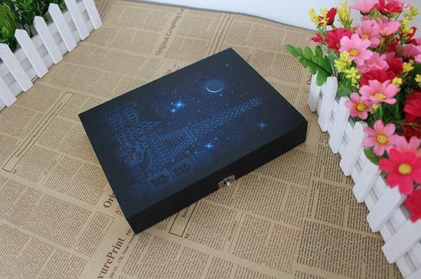 星空密碼本復古帶鎖日記本 盒裝密碼筆記本子