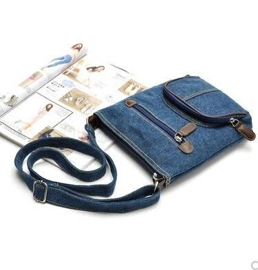 帆布包韓版休閒復古斜背品牌女包夏季小包包側背手提森女牛仔布包