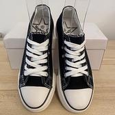 厚底懶人鞋潮帆布鞋休閒鞋(35-40號/222-8000)