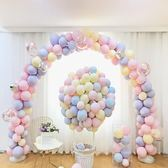 氣球裝飾 ins網紅氣球兒童生日派對寶寶周歲生日佈置馬卡龍氣球裝飾結婚【美物居家館】