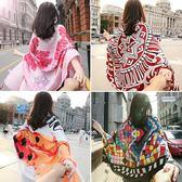 新款圍巾女春夏季棉麻超大披肩百搭韓版紗巾
