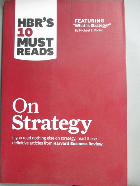 【書寶二手書T4/傳記_GOV】HBR's 10 Must Reads on Strategy_Harvard Busi
