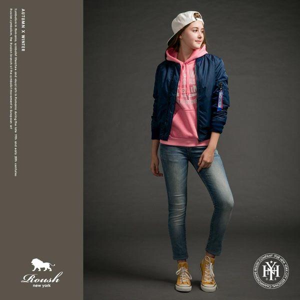 【Roush】女生MA-1雙色織帶鋪棉飛行外套 - 【615506】