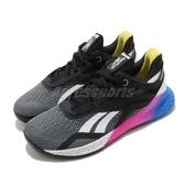 Reebok 訓練鞋 Nano X 黑 粉 女鞋 多功能 運動鞋 CrossFit專用 【ACS】 FW8208