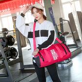 現貨-批量定制圓桶包健身包健身房瑜伽訓練運動斜背足球