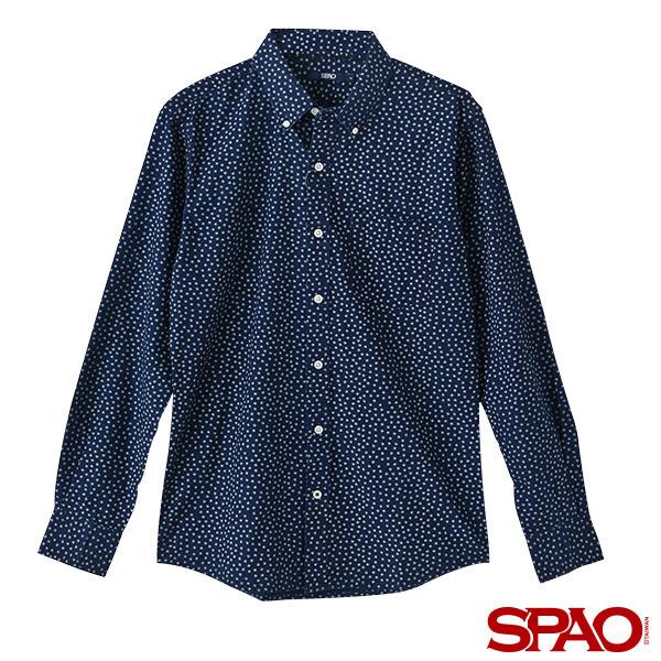 SPAO男款滿版星星長袖襯衫