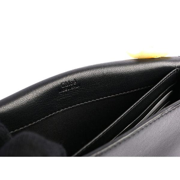 【NG商品】【CHLOE】小羊皮蝴蝶結鏈帶斜背包_展示品(黑色) 3P0495 834 001
