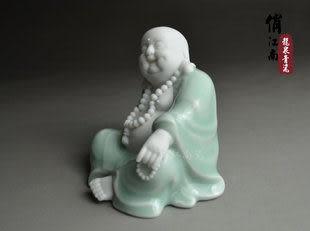 龍泉青瓷 彌勒佛陶瓷擺件