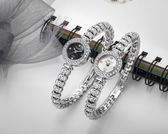 手錶女士陶瓷水鑽潮流時尚學生防水機械石英錶鋼帶手鏈時裝錶女錶 生日禮物 創意