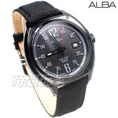 ALBA雅柏錶 個性時尚 酷潮流 日期顯示窗 防水錶 帆布+皮帶 男錶 AS9J65X1 VJ42-X287C