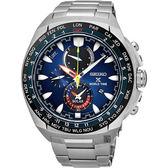 SEIKO Prospex 海世界計時腕錶-銀X藍