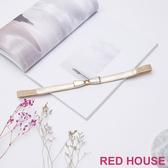 Red House 蕾赫斯-時尚蝴蝶伸縮腰帶(金色)