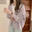 針織外套 2021秋季新款寬松復古百搭針織開衫女慵懶風溫柔短款毛衣外套外穿 薇薇