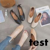 豆豆鞋 淺口單鞋女底圓頭韓版軟底套腳休閒鞋 艾米潮品館