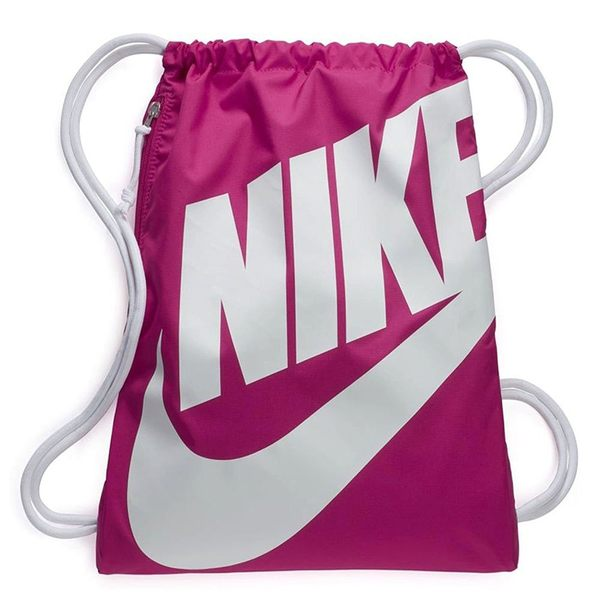 NIKE HERITAGE GYMSACK 抽繩 束口袋 束口後背包 休閒包 後背包 BA5351-694 桃粉色