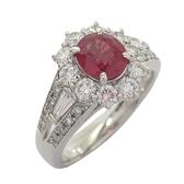 JEWELRY 1.15克拉紅寶石鑲0.93克拉鑽鉑金戒指 Ruby Ring  PT900 【BRAND OFF】