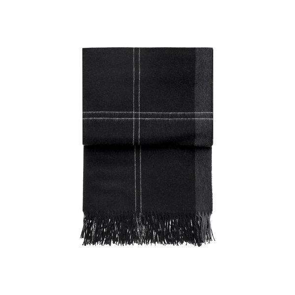 丹麥 Elvang Latitude Alpaca Wool Plaid / Throws 130x200cm 緯度系列 輕量 羊駝毛 披肩 / 蓋毯(高雅黑爵)