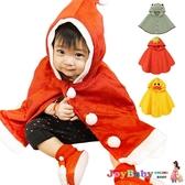 聖誕披風連帽 耶誕斗篷 可愛造型保暖外套-JoyBaby
