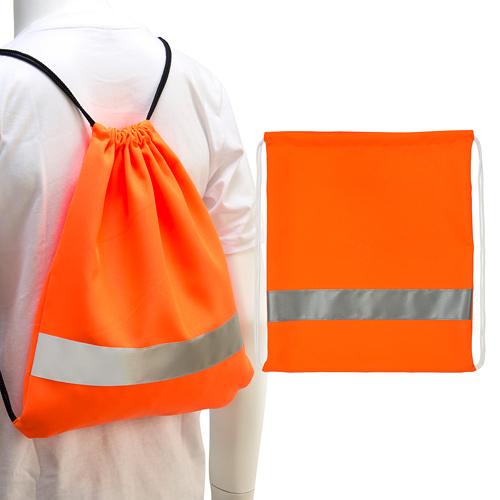 [客製化]  絲網印螢光後背袋+安全反光條  S1-40008TA