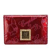 Crystal Ball 星砂漆皮壓紋LOGO名片夾(亮紅色)160001-3
