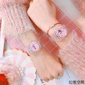 可愛卡通女孩兒童手表中學生小巧迷你簡約清新時尚百搭氣質電子表