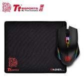 【Tt eSPORTS 曜越】塔龍 TALON Elite RGB 滑鼠與滑鼠墊組合