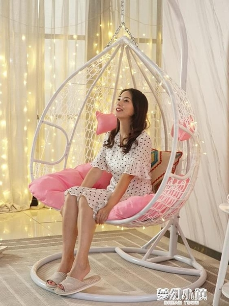 吊椅吊籃藤椅家用室內搖籃椅戶外秋千搖椅吊床陽台吊籃椅吊藍椅子 ATF夢幻小鎮