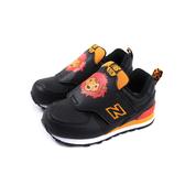 New Balance 574系列 休閒運動鞋 魔鬼氈 黑色 獅子 小童 童鞋 IV574ZOL-W no622