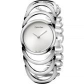 Calvin Klein CK Ladies 設計師手環錶-銀/29mm K4G23126
