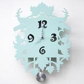 創意時鐘-簡約木質森林系動物藝術壁鐘72z40[時尚巴黎]