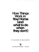二手書博民逛書店《How Things Work in Your Home (and what to Do when They Don t)》 R2Y ISBN:0030036720